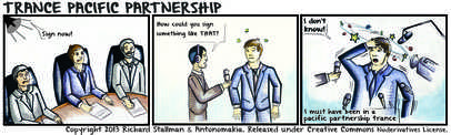 Comic, Trance Pacific Partnership, tpp. free trade