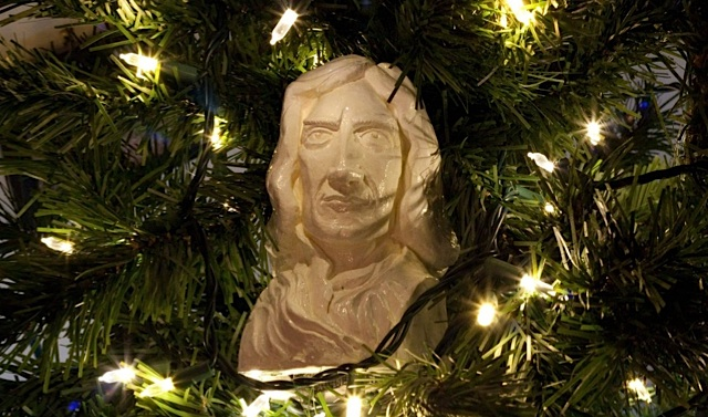 Newton Ornament.  Copyright 		2012 Nathan Davis Released under Creative Commons 		Attribution Sharealike 3.0.